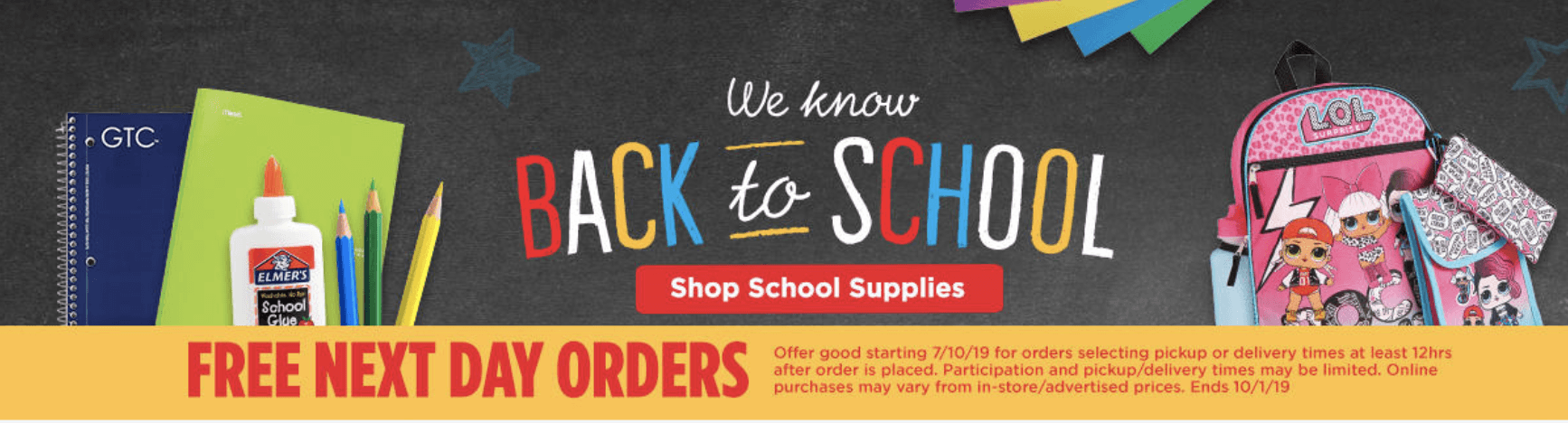 HEB Back To School Curbside and Delivery Promotions